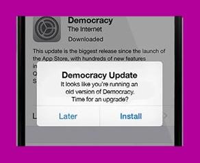 Update Democracy menuutje